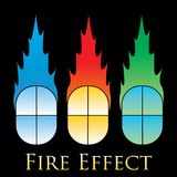 Fire effects. swirl trail effect with special light effect. Special effects  fire illustrations to facilitate templates or design elements Royalty Free Stock Image