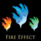 Fire effects. swirl trail effect with special light effect. Special effects  fire illustrations to facilitate templates or design elements Royalty Free Stock Images