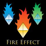 Fire effects. swirl trail effect with special light effect. Special effects  fire illustrations to facilitate templates or design elements Stock Photography