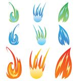 Fire effects.vector swirl trail effect with special light effect. Special effects vector fire illustrations to facilitate templates or design elements Royalty Free Stock Photo