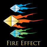 Fire effects.vector swirl trail effect with special light effect. Special effects vector fire illustrations to facilitate templates or design elements Royalty Free Stock Image