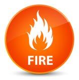 Fire elegant orange round button Royalty Free Stock Photos