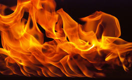 Fire element with wall shape Royalty Free Stock Photography