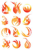 Fire elements Stock Photos