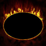Fire ellipse. Red Fire ellipse, dark background Stock Image