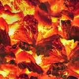 Fire Embers. Seamless Texture Tile from Photographic Original Royalty Free Stock Image