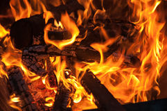 Fire and embers Royalty Free Stock Images
