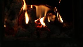 Fire and embers stock footage