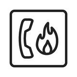 Fire Emergency. Call, fire, safety icon vector image. Can also be used for firefighting. Suitable for use on web apps, mobile apps and print media Royalty Free Stock Photos
