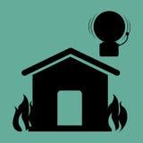 Fire emergency concept design.  Stock Photos