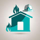 Fire emergency concept design.  Royalty Free Stock Image