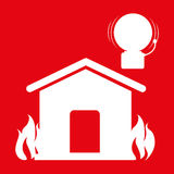 Fire emergency concept design. Illustration Royalty Free Stock Images