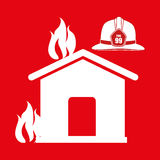 Fire emergency concept design. Illustration Royalty Free Stock Photo