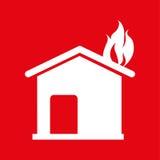 Fire emergency concept design. Illustration Stock Photo