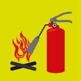 Fire emergency concept design. Illustration Stock Images