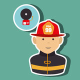 Fire emergency concept design. Illustration Royalty Free Stock Photography