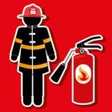Fire emergency concept design. Illustration Stock Image