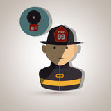 Fire emergency concept design. Illustration Stock Photos