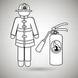 Fire emergency concept design. Illustration Royalty Free Stock Photos