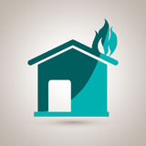 Fire emergency concept design. Illustration Stock Photography
