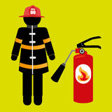 Fire emergency concept design. Illustration Royalty Free Stock Image
