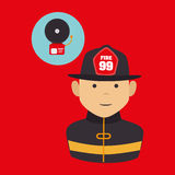 Fire emergency concept design. Illustration Stock Images