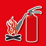 Fire emergency concept design. Illustration Stock Image