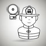 Fire emergency concept design. Illustration Stock Photos