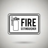 Fire emergency concept design. Illustration Stock Photo