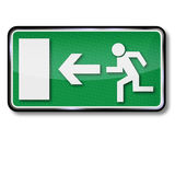 Fire emergency exit Stock Photos