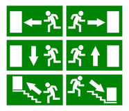 Fire emergency exit sign stock illustration