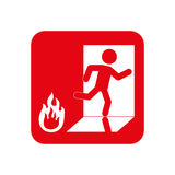 Fire emergency sign. Icon  illustration graphic design Royalty Free Stock Photos