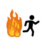Fire emergency sign. Icon  illustration graphic design Stock Images