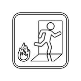 Fire emergency sign Stock Images