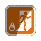 Fire emergency sign Royalty Free Stock Photography