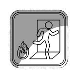 Fire emergency sign Stock Image