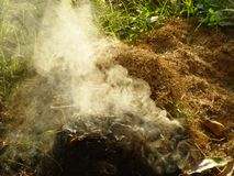 Fire emitting toxic and poisoinous Royalty Free Stock Photography