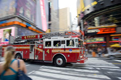Fire engine. Fire truck in new york city royalty free stock photos