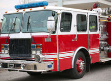 Fire engine of the American firemen ready for emergencies Royalty Free Stock Images