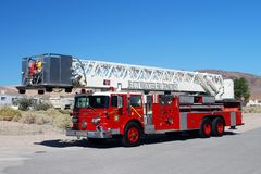 FIRE ENGINE. Beatty Volunteer Fire Department of Nye County Nevada fire engine Stock Image