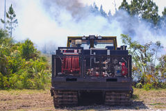 Fire engine at brush fire Stock Images