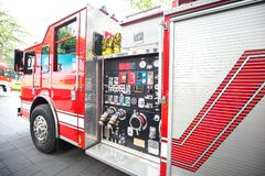 Fire engine detail Stock Images