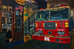 FIRE ENGINE COMPANY NO 65 Royalty Free Stock Photography