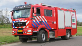 Fire engine of the Dutch Fire Brigade. Fire engine 07-2231 of the Dutch Fire Brigade De Valk Stock Images