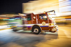 Fire engine on duty Royalty Free Stock Photos
