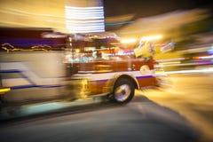 Fire engine on duty Stock Photo