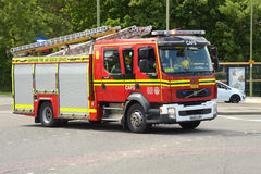 Fire engine on an emergency call Royalty Free Stock Image