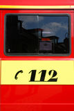 Fire engine emergency number Stock Images