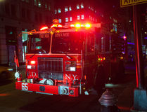 Fire engine of FDNY Engine Company 65 Stock Photos