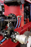 Fire-engine. The flange of the water Royalty Free Stock Photo